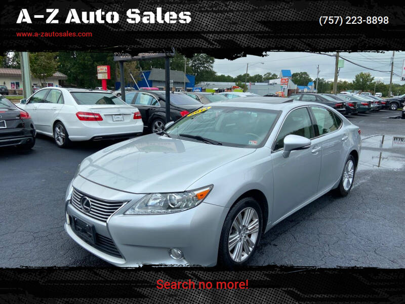 2014 Lexus ES 350 for sale at A-Z Auto Sales in Newport News VA