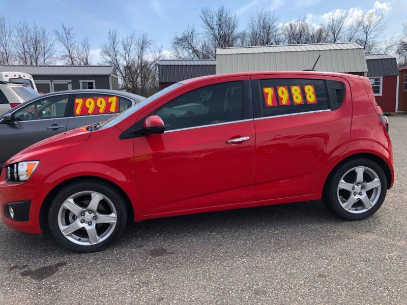 2015 Chevrolet Sonic for sale at Triple R Sales in Lake City MN