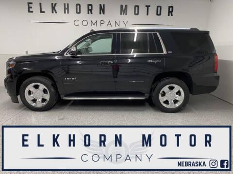 2015 Chevrolet Tahoe for sale at Elkhorn Motor Company in Waterloo NE