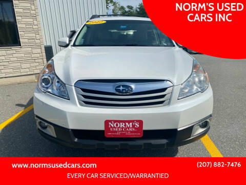 2010 Subaru Outback for sale at NORM'S USED CARS INC in Wiscasset ME