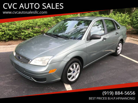 2005 Ford Focus for sale at CVC AUTO SALES in Durham NC
