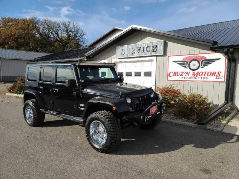 2014 Jeep Wrangler Unlimited for sale at CRUZ'N MOTORS in Spirit Lake IA