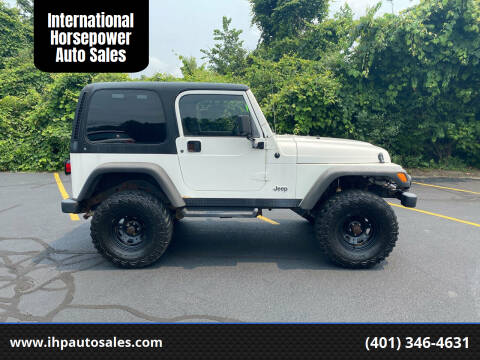 2002 Jeep Wrangler for sale at International Horsepower Auto Sales in Warwick RI