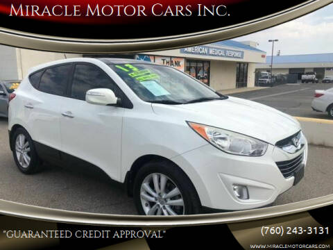 2013 Hyundai Tucson for sale at Miracle Motor Cars Inc. in Victorville CA