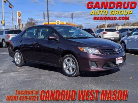 2013 Toyota Corolla for sale at GANDRUD CHEVROLET in Green Bay WI