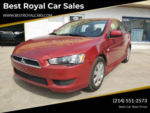 2014 Mitsubishi Lancer for sale at Best Royal Car Sales in Dallas TX
