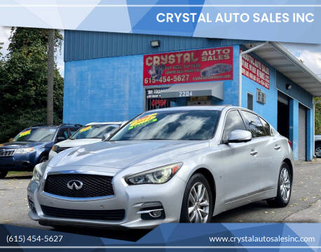 2014 Infiniti Q50 for sale at Crystal Auto Sales Inc in Nashville TN