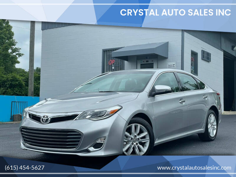 2013 Toyota Avalon for sale at Crystal Auto Sales Inc in Nashville TN