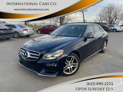 2014 Mercedes-Benz E-Class for sale at International Cars Co in Murfreesboro TN