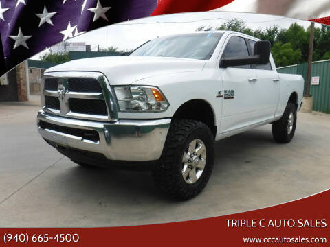 2013 RAM Ram Pickup 2500 for sale at Triple C Auto Sales in Gainesville TX