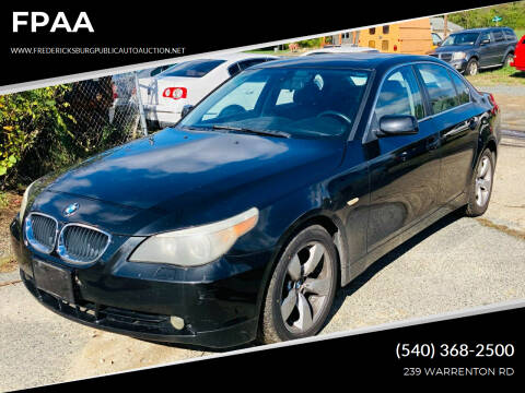2005 BMW 5 Series for sale at FPAA in Fredericksburg VA