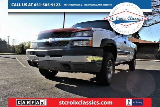 2004 Chevrolet Silverado 2500HD for sale at St. Croix Classics in Lakeland MN
