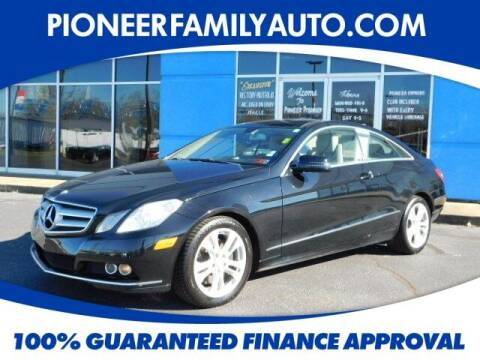 2010 Mercedes-Benz E-Class for sale at Pioneer Family auto in Marietta OH