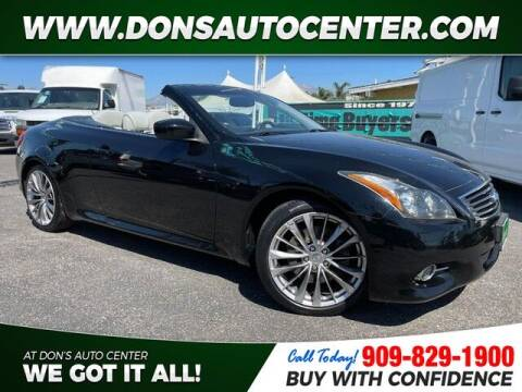 2011 Infiniti G37 Convertible for sale at Dons Auto Center in Fontana CA