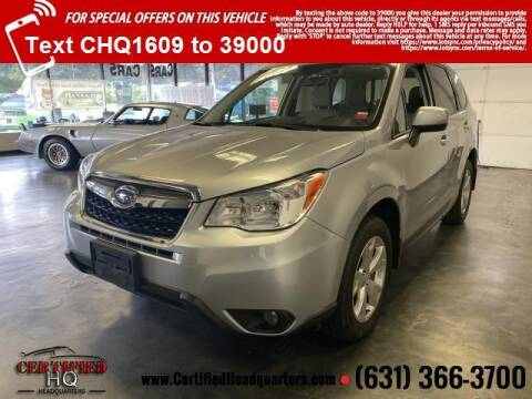 2016 Subaru Forester for sale at CERTIFIED HEADQUARTERS in St James NY