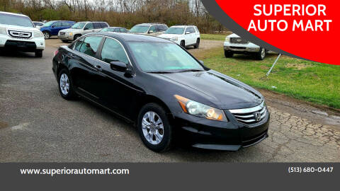 2012 Honda Accord for sale at SUPERIOR AUTO MART in Amelia OH