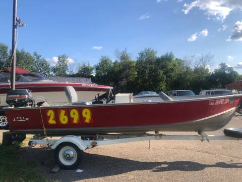 1980 lund 15' for sale at Triple R Sales in Lake City MN