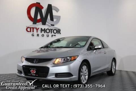 2012 Honda Civic for sale at City Motor Group, Inc. in Wanaque NJ