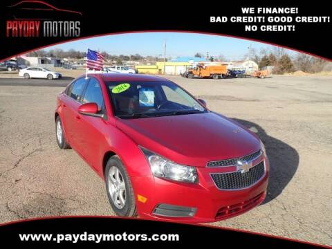 2014 Chevrolet Cruze for sale at Payday Motors in Wichita And Topeka KS