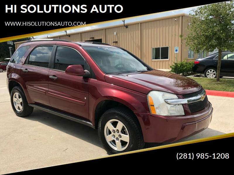 2007 Chevrolet Equinox for sale at HI SOLUTIONS AUTO in Houston TX