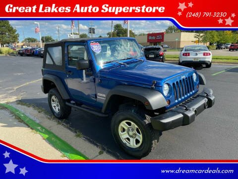 2010 Jeep Wrangler for sale at Great Lakes Auto Superstore in Waterford Township MI