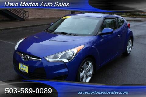 2012 Hyundai Veloster for sale at Dave Morton Auto Sales in Salem OR