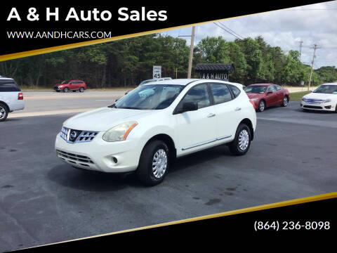 2013 Nissan Rogue for sale at A & H Auto Sales in Greenville SC