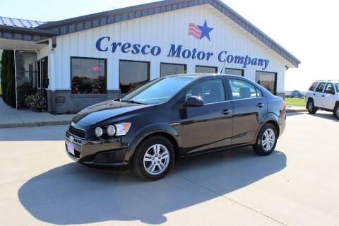 2014 Chevrolet Sonic for sale at Cresco Motor Company in Cresco IA