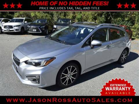 2017 Subaru Impreza for sale at Jason Ross Auto Sales in Burlington NC