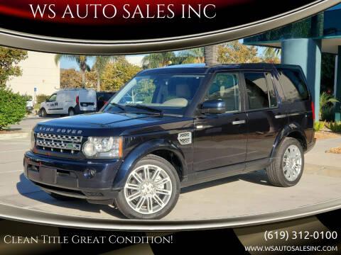 2010 Land Rover LR4 for sale at WS AUTO SALES INC in El Cajon CA