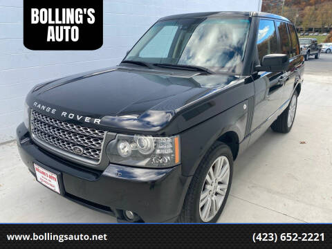 2010 Land Rover Range Rover for sale at BOLLING'S AUTO in Bristol TN