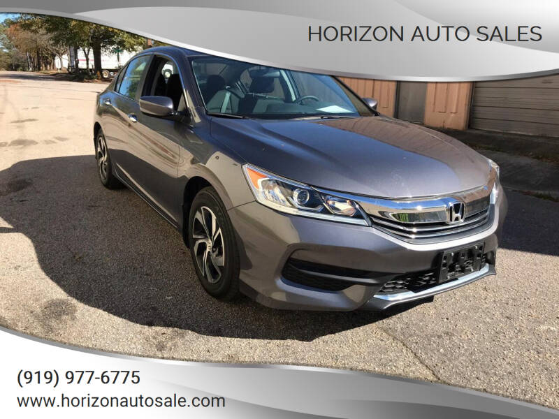 2017 Honda Accord for sale at Horizon Auto Sales in Raleigh NC