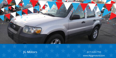 2007 Ford Escape for sale at JG Motors in Worcester MA