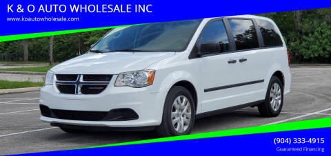 2014 Dodge Grand Caravan for sale at K & O AUTO WHOLESALE INC in Jacksonville FL