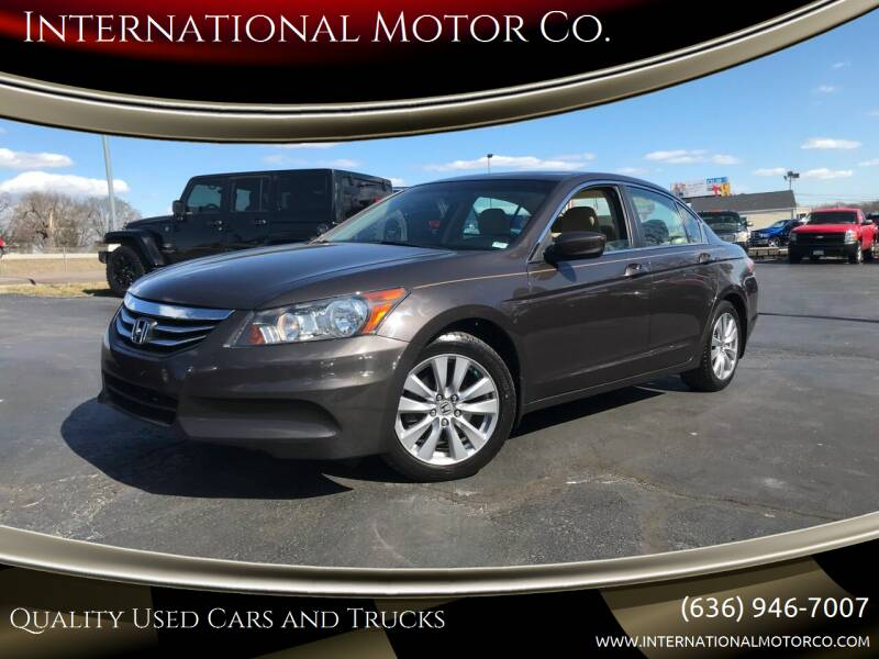 2012 Honda Accord for sale at International Motor Co. in St. Charles MO