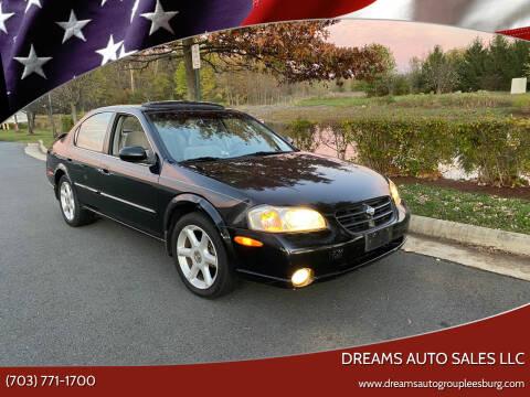 2000 Nissan Maxima for sale at Dreams Auto Sales LLC in Leesburg VA