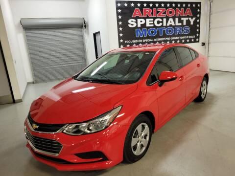 2018 Chevrolet Cruze for sale at Arizona Specialty Motors in Tempe AZ