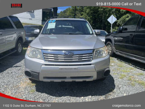 2009 Subaru Forester for sale at CRAIGE MOTOR CO in Durham NC