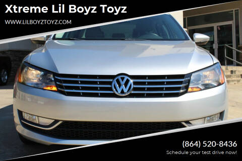 2012 Volkswagen Passat for sale at Xtreme Lil Boyz Toyz in Greenville SC