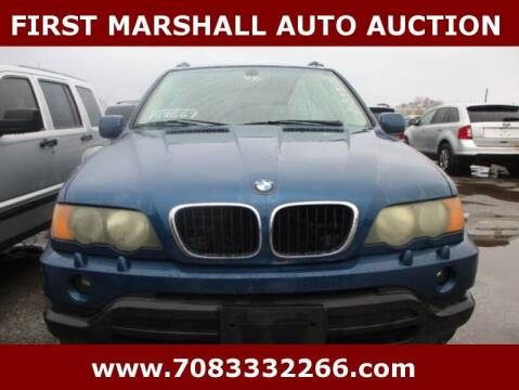 2002 BMW X5 for sale at First Marshall Auto Auction in Harvey IL