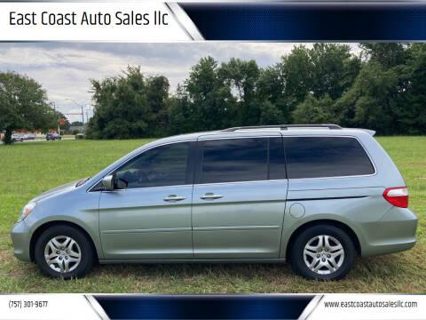 2006 Honda Odyssey for sale at East Coast Auto Sales llc in Virginia Beach VA