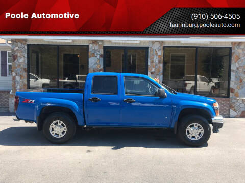 2007 Chevrolet Colorado for sale at Poole Automotive in Laurinburg NC