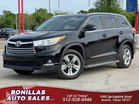 2016 Toyota Highlander for sale at Bonillas Auto Sales in Austin TX