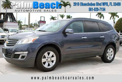 2014 Chevrolet Traverse for sale at Palm Beach Automotive Sales in West Palm Beach FL