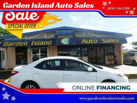 2018 Toyota Corolla for sale at Garden Island Auto Sales in Lihue HI