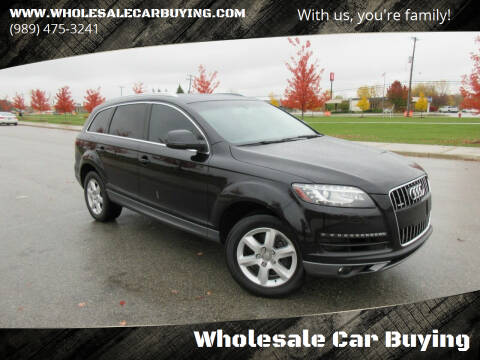 2014 Audi Q7 for sale at Wholesale Car Buying in Saginaw MI