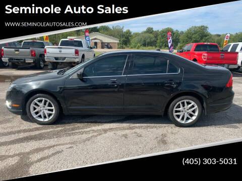 2012 Ford Fusion for sale at Seminole Auto Sales in Seminole OK