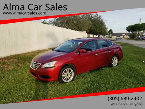 2014 Nissan Sentra for sale at Alma Car Sales in Miami FL