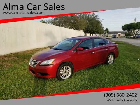 2014 Nissan Sentra for sale at Alma Car Sales in Miami FL