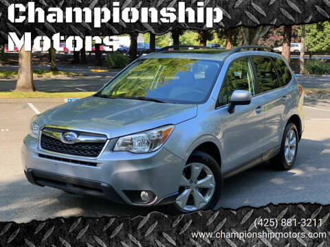 2015 Subaru Forester for sale at Championship Motors in Redmond WA